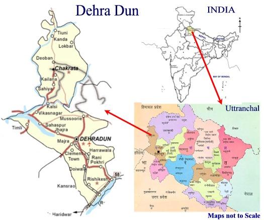 Dehradun In India Map MAP SARA INDUSTRIAL ESTATE LTD, DEHRADUN, UTTARANCHAL